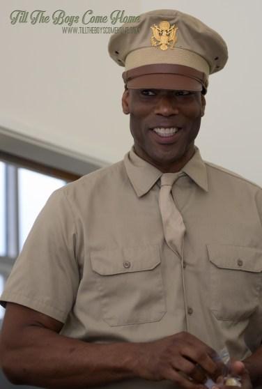 "Christopher Kirby as USA ""Captain Johnson"""