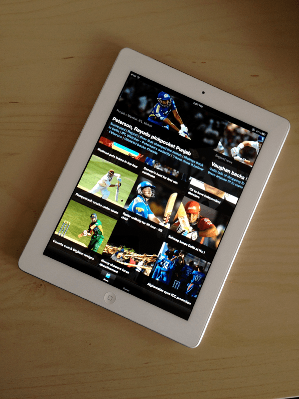 Cricketainment iPad App Sneak Peek