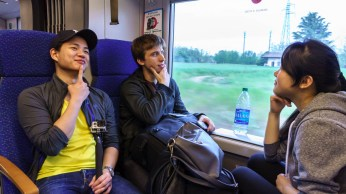 On the train to Milan