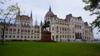 Budapest Parliament on a rainy day