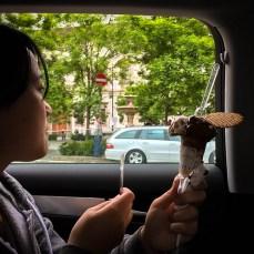 Final scoops of gelato.