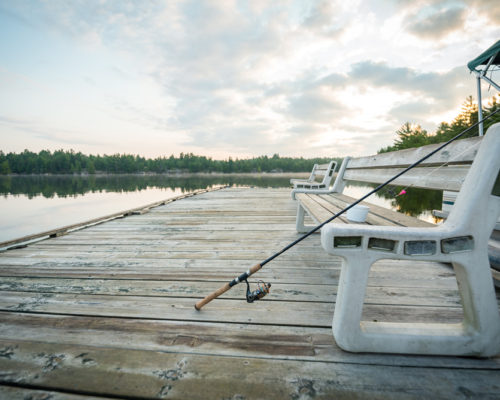 fishing off the dock at the toque