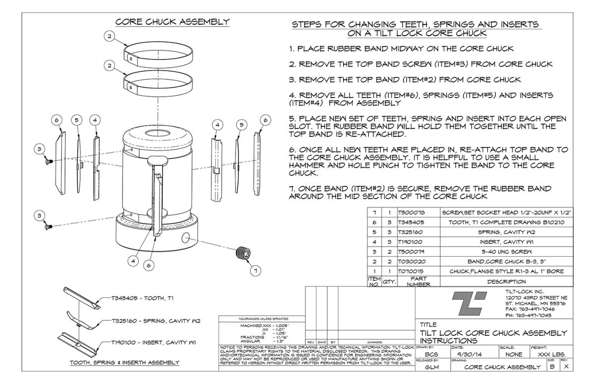 Tilt-Lock Core Chuck Breakdown