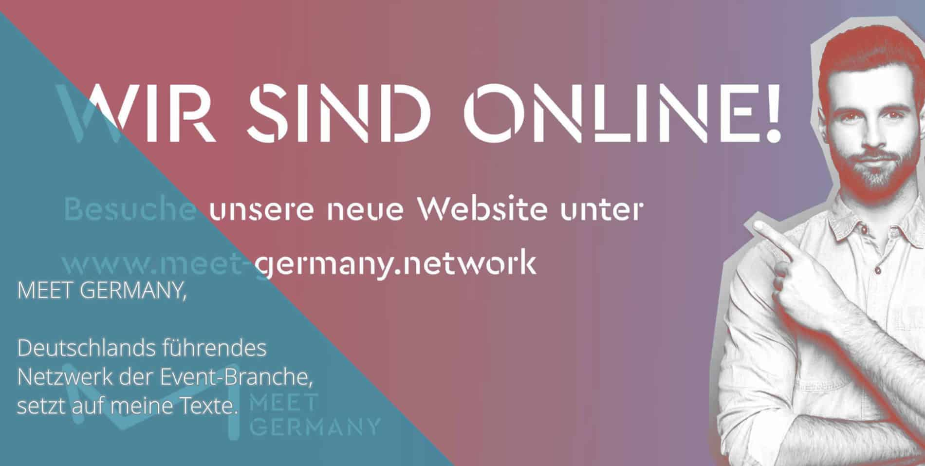 Meet Germany Homepage Arbeitsprobe Tim Allgaier Texter PR Freelancer Werbetexter Köln