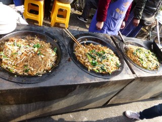 Various noodle dishes. We opted for the traditional Shanghai noodles (middle).