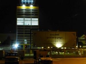 Airport after dark
