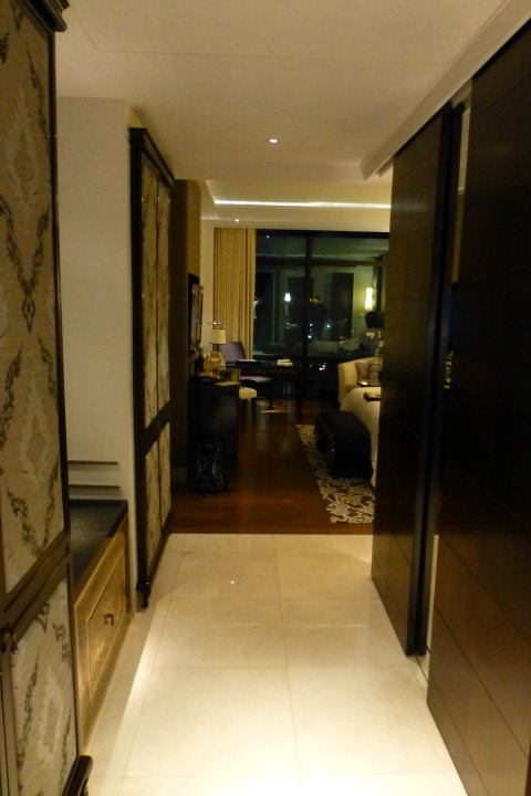 Entry way leading into the room