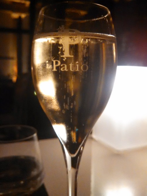 Champagne on le Patio at  Prince de Gaulles Hotel - Paris