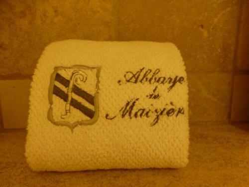 Abbaye de Maizieres monogrammed hand towl