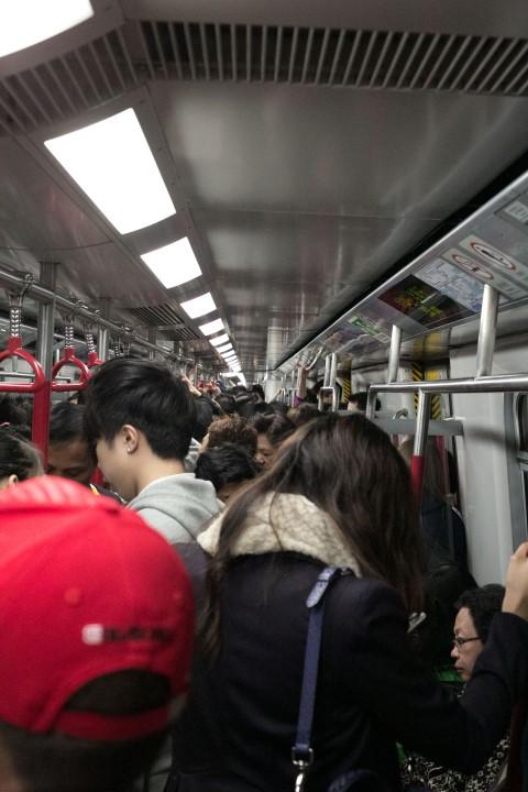 Packed Subway Car - Not Rush Hour