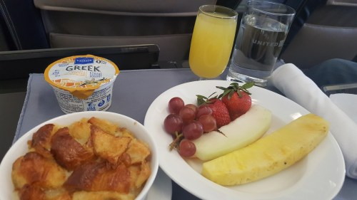 French Toast with Fruit - United Domestic First to Newark