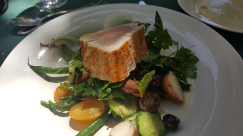 A take on a Salade Niçoise with seared Oregon Albacore.