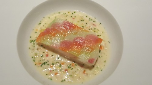 Turbot - root vegetables, beurre cancalaise. Paired with 2012 Domaine Ostertag, Pinot Gris, Zellberg, Alsace, France.