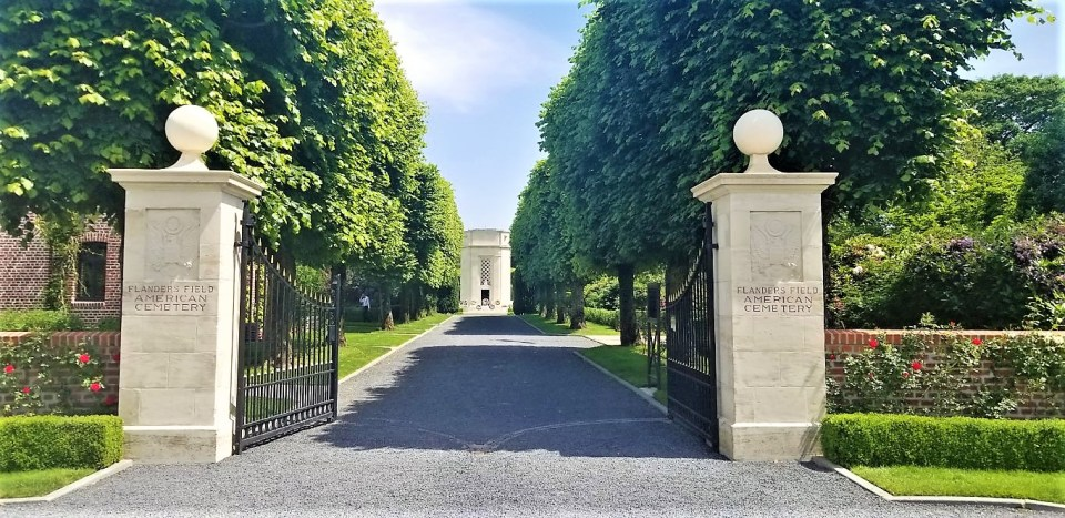 The grand entrance to the American Cemetery