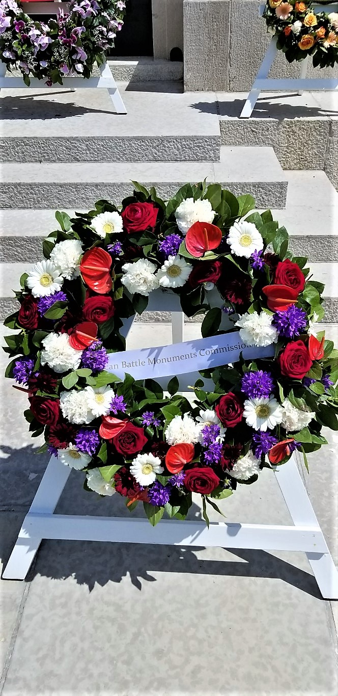 Commemorative Wreath at the American Cemetery WWI