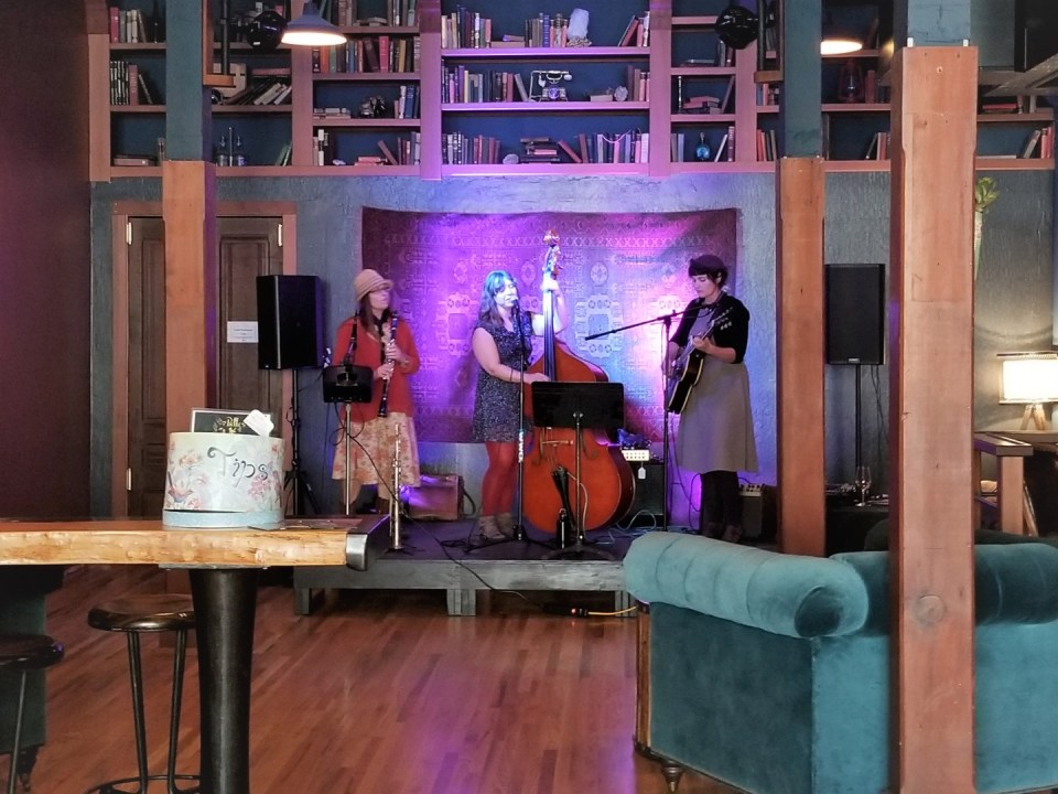 Local band in the lounge