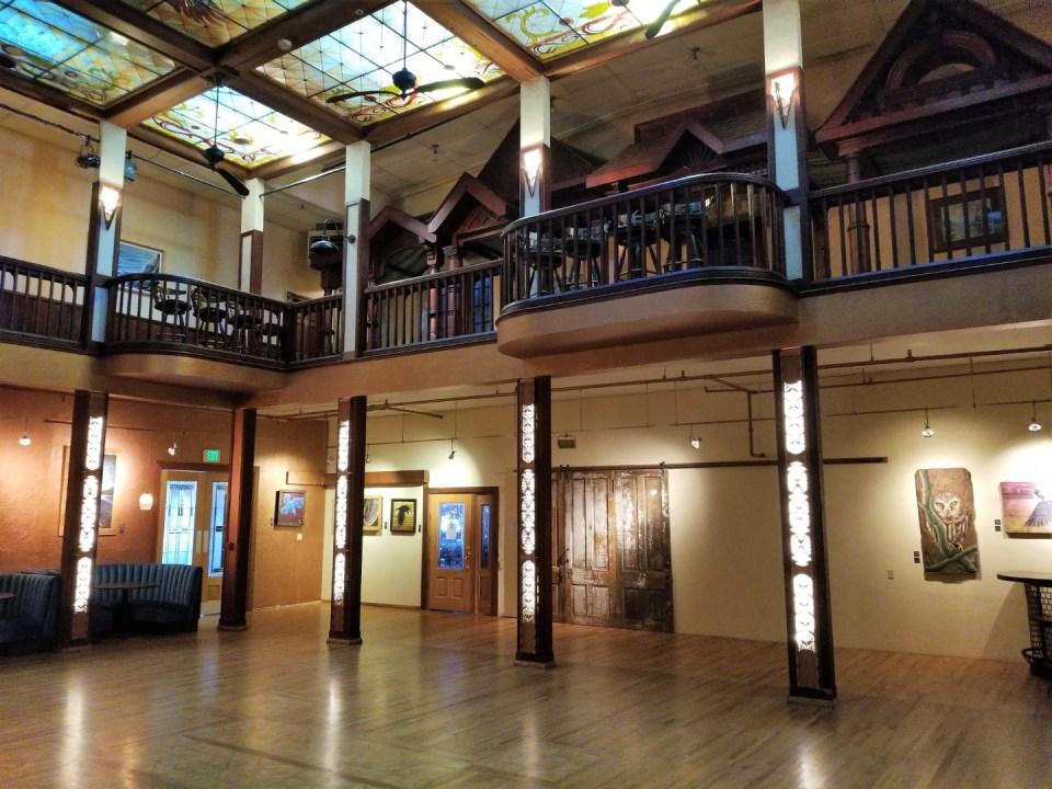 The ballroom at the Inn