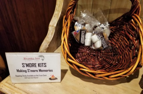 Complimentary s'more kits.