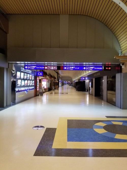 Empty hallways at TPE