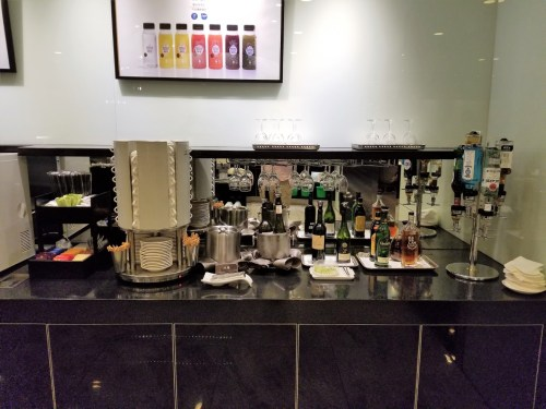 Self-serve beverage station.