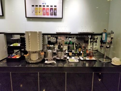 Self-serve beverage station.