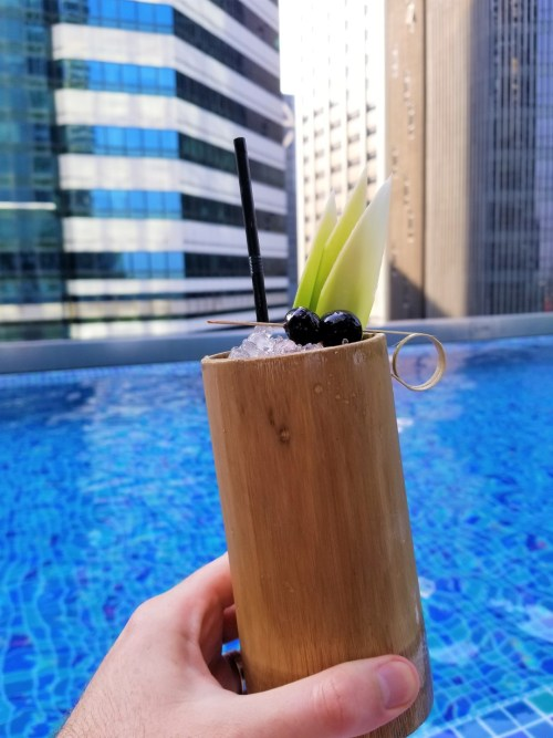 Poolside drinks served in shatterproof drinware - a huge step above plastic.