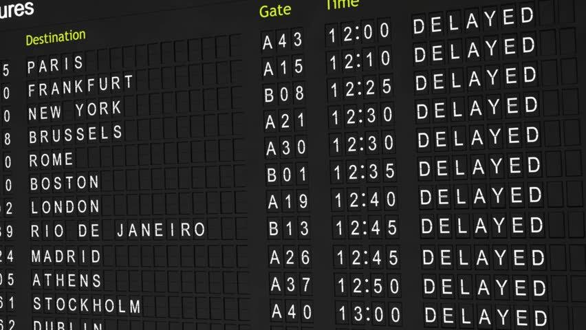 Delayed Departure Board