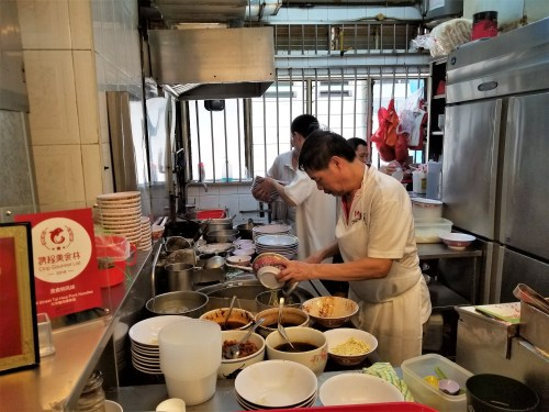Kitchen views at Hill Street Tai Hwa Pork Noodle