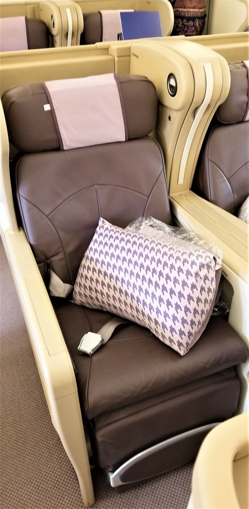 Singapore AIrlines Business Class Seating