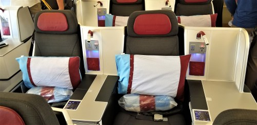 Austrian Airlines Business Class Seating Boeing 777