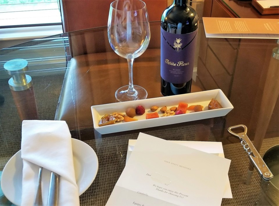 Park Hyatt Mendoza Welcome Gift