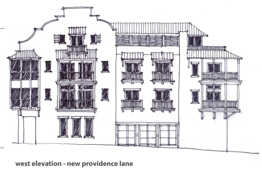 McNamara-Rosemary Beach-The Orleans-Exterior-Schematic-West