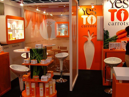 Yes To Carrots Inside Booth