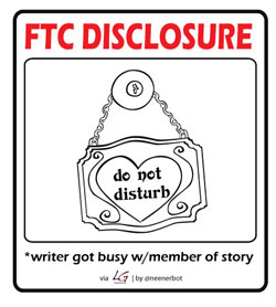 FTC Disclosure: Writer got busy with member of story.