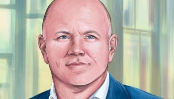 Artist's rendering of Mike Novogratz portrait.