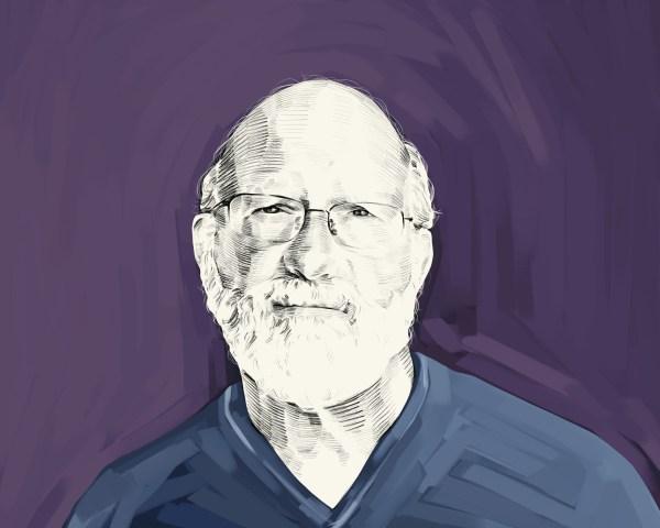 Artist's rendering of Dennis McKenna.