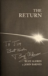 """""""The Return"""",  book signed by the author, Buzz Aldrin"""