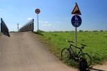 Auch der deutsche Schilderwald ist mitunter nicht zu verachten (hier: extreme Steigung am Radweg zwischen Heppenheim und Hüttenfeld)