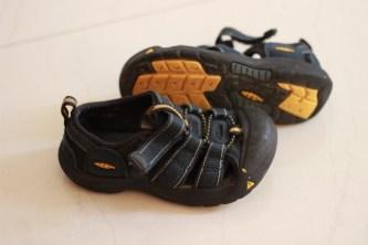 Die Schuhe nach 3 Wochen
