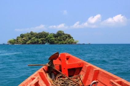 Kurs auf Pagoda Island