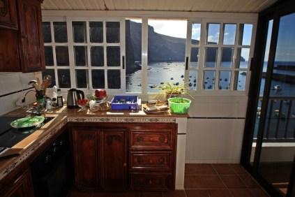 Küche mit Aussicht