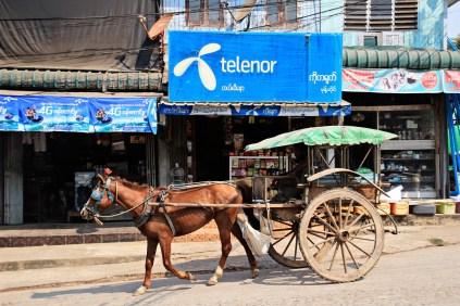 Der Kutscher kauft gerade SIM-Karten
