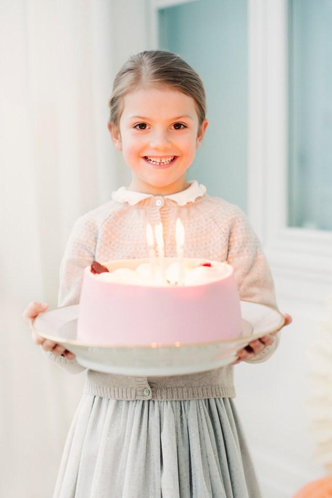 Fredagen den 23 februari 2018. Prinsessan Estelle fyller sex år. / Friday 23 February 2018. Princess Estelle's sixth birthday.Not for marketing purposes.