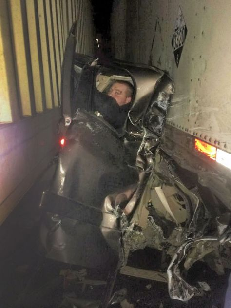 Interstate 84 semi-crash: Photos from the Baker City area pileup