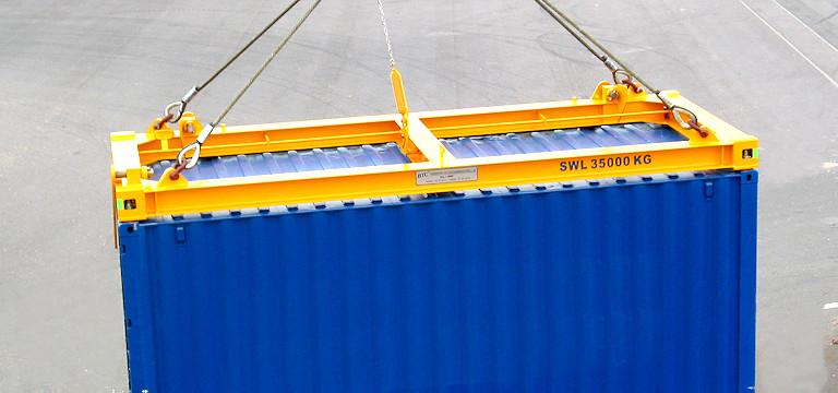 Timars HCL verktyg lyfter en container.