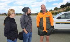 DOC officer Alan McDonald says the aged grey-beaked whale probably beached itself to die.