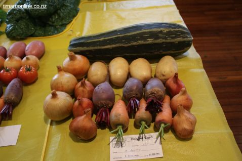 Albert Peattie's selection of vegetables