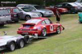 This 1992 Porshe 964 Carrera, belonging to Wayne Graves, from Christchurch, is finished for the day