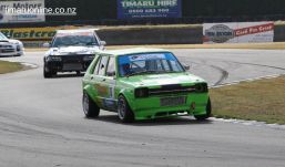 Murray Ball, from Ashburton, in a Toyota Scarlet