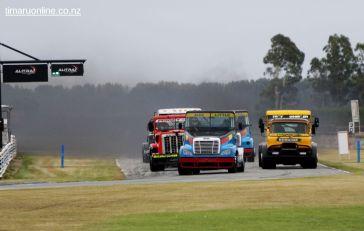 The Jim Thickett Memorial Super Truck race